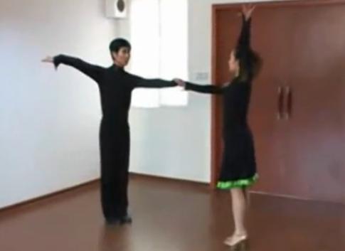 三步踩花式组合套路分解教学1-3 武汉市交谊舞休闲舞