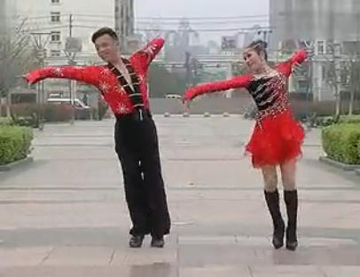 慢动作教学20152013最新双人舞 交谊舞 灵动三步踩 三步踩教学