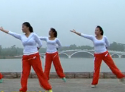 龍都舞動晨韻健身操康定情人演示教學 2015最新原創有氧串燒健身操