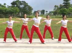 Li.Li健身操 DJ弹性热身操正面背面