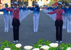刘丽新第四套行进有氧健身操完整演示 刘丽新健身操