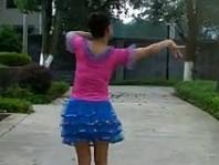 紫玫瑰廣場舞湘西小阿妹背面演示