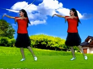 春花廣場舞愛在草原附背面及口令下載