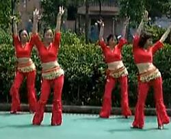 周思萍廣場舞系列 印度藏歌(背面)
