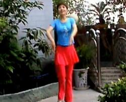 周思萍 藏族舞《高原红》舞蹈元素展示