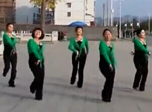 紫玫瑰广场舞布衣女中老年广场舞队型演示视频下载
