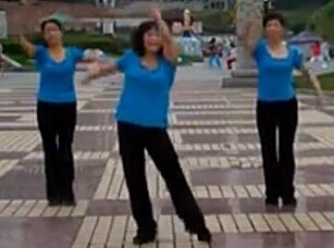 紫玫瑰广场舞我是个好老婆含背面动作演示