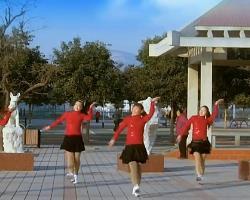 青馨明月廣場舞紅紅的中國 編舞劉榮 簡單廣場舞