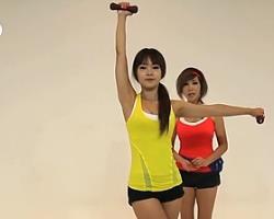 哑铃交叉上举 韩国郑多燕减肥健身操 35个身体训练动作