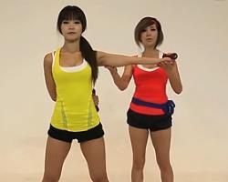 体侧屈哑铃臂屈伸 韩国郑多燕减肥健身操 35个身体训练动作