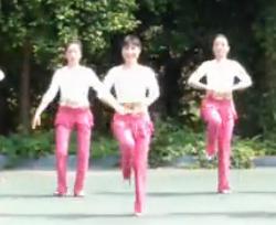 周思萍广场舞系列今夜舞起来(正面背面分解口令)简单中老年广场舞