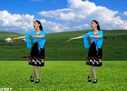 春花廣場舞《愛情在草原》(附口令及背面/視頻、舞曲下載)