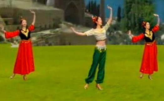 新疆舞大阪城的姑娘教學 主講許瑋娜 中老年廣場舞民族舞教學