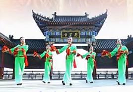 九江向霞广场舞过大年正面背面演示 2015年新年热门中老年广场舞