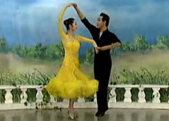 杨艺许玮娜教你跳慢三 华尔兹舞的通俗跳法 第一讲月亮转