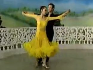 杨艺许玮娜教你跳慢三 第五讲新疆舞步 华尔兹舞的通俗跳法