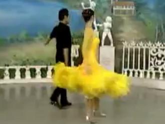 杨艺许玮娜教你跳慢三 第六讲双手套环 华尔兹舞的通俗跳法