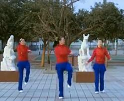 靑馨明月廣場舞正月十五鬧花燈 正面動作演示視頻