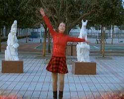 青馨明月廣場舞 五星紅旗飄起來 個人版