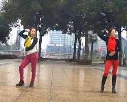 俪影广场舞两个人 最新时尚减肥瘦身广场舞