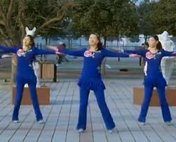 廣場舞五星紅旗飄起來 青馨明月廣場舞 編舞春英