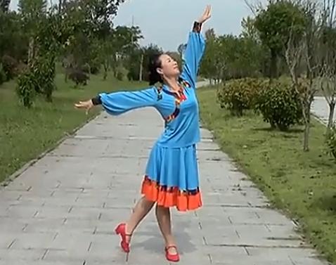 安徽池州舞之美廣場舞我的草原正面背面含教學