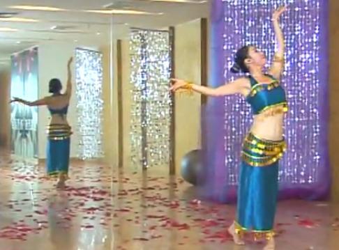 傣族舞肚皮舞舞蹈表演示范及教学视频 李木子肚皮舞