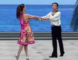 吉特巴02 单手拉花双手措演示教学 规范交谊舞 水兵舞 杨艺经典舞蹈