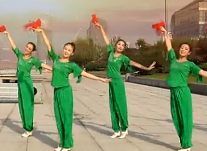 九江向霞廣場舞向著太陽歌唱正面背面 含舞臺隊形表演 九江百姓健康舞向霞健身舞團