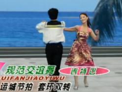 杨艺水兵舞第四讲 运城节拍 套环双转 杨艺规范交谊舞演示教学 吉特巴