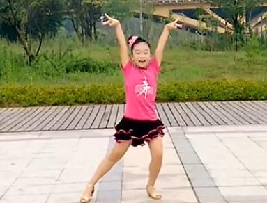 恰恰恰广场舞儿童版 编舞艺子龙 皮皮熊广场舞