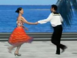 杨艺水兵舞第七讲 吉特巴 水兵踏步,扇形打开 交谊舞