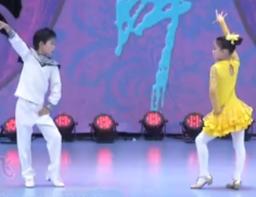 杨艺杨君水兵舞歌在飞 吉特巴水兵舞 儿童水兵舞 表演:李征凯 李征茹