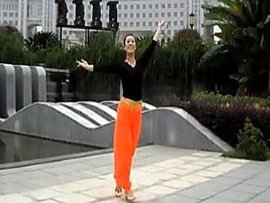 广场舞桑吉卓玛(桑洁卓玛) 正背面口令教学 九江向霞广场舞