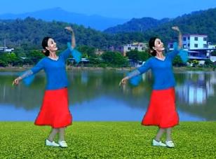 春花廣場舞延邊人民熱愛毛主席 演示教學 紅歌 原創朝鮮族舞蹈