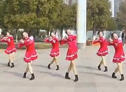 高安子君广场舞高歌一曲庆新年 广场舞演示 动作分解教学