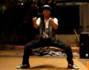 全美最受欢迎的街舞选手fik-shun表演街舞江南Style