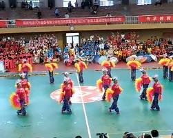 扇子舞表演 珊瑚颂张灯结彩 甘肃陇西铁路俱乐部2014全民健身一等奖