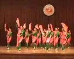 红红的日子 扇子舞舞台表演视频 中老年简单扇子舞