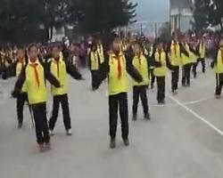 小学生兔子舞体操 简单易学 舞蹈队形