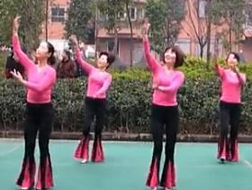 周思萍广场舞心中的歌儿献给金珠玛正面背面 红歌 藏歌风 动感欢快的中老年广场舞