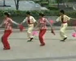 第一套海派秧歌 扇绢 扇子舞视频免费下载