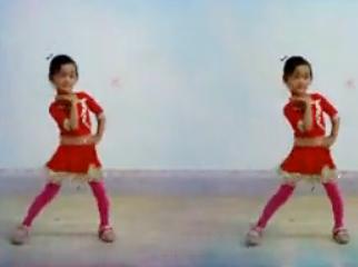儿童舞蹈感觉自己萌萌哒 阿采女儿子依广场舞 活泼大方的广场舞