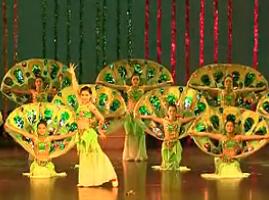 傣族舞蹈吉祥孔雀 优美动人的民族舞蹈