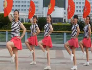 单扇广场舞自由飞翔 俏木兰扇子舞自由飞翔