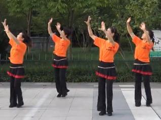 西湖莉莉广场舞红火情歌正面背面演示 张家成《红火情歌》歌词MP3下载
