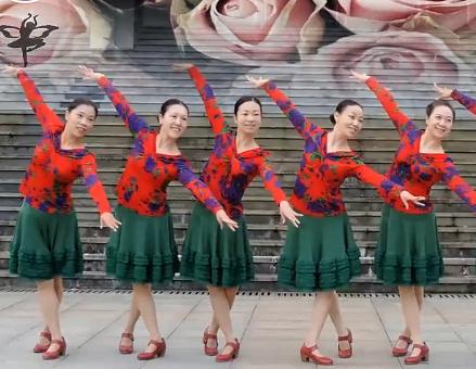 紫蝶踏歌广场舞淤弓,精彩如虹正面背面含教学