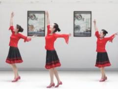 紫紫雨广场舞贝加尔湖畔正面背面舞蹈视频 优美大方的中?#22799;?#24191;场舞