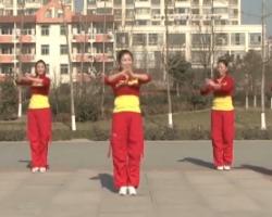 龍都舞動晨韻廣場舞大吉大利中國年 2016最新原創有氧健身操舞