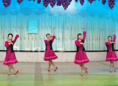 厦门海之韵广场舞阿娜尔汗我的黑眼睛团队正面演示 新疆民歌